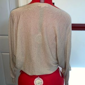 Kenar Tops - Kenar cold shoulder gold top